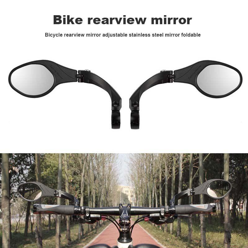 Bicycle Handlebar Rear View Mirror Bike Rearview Mirror Adjustable Car Bicycle