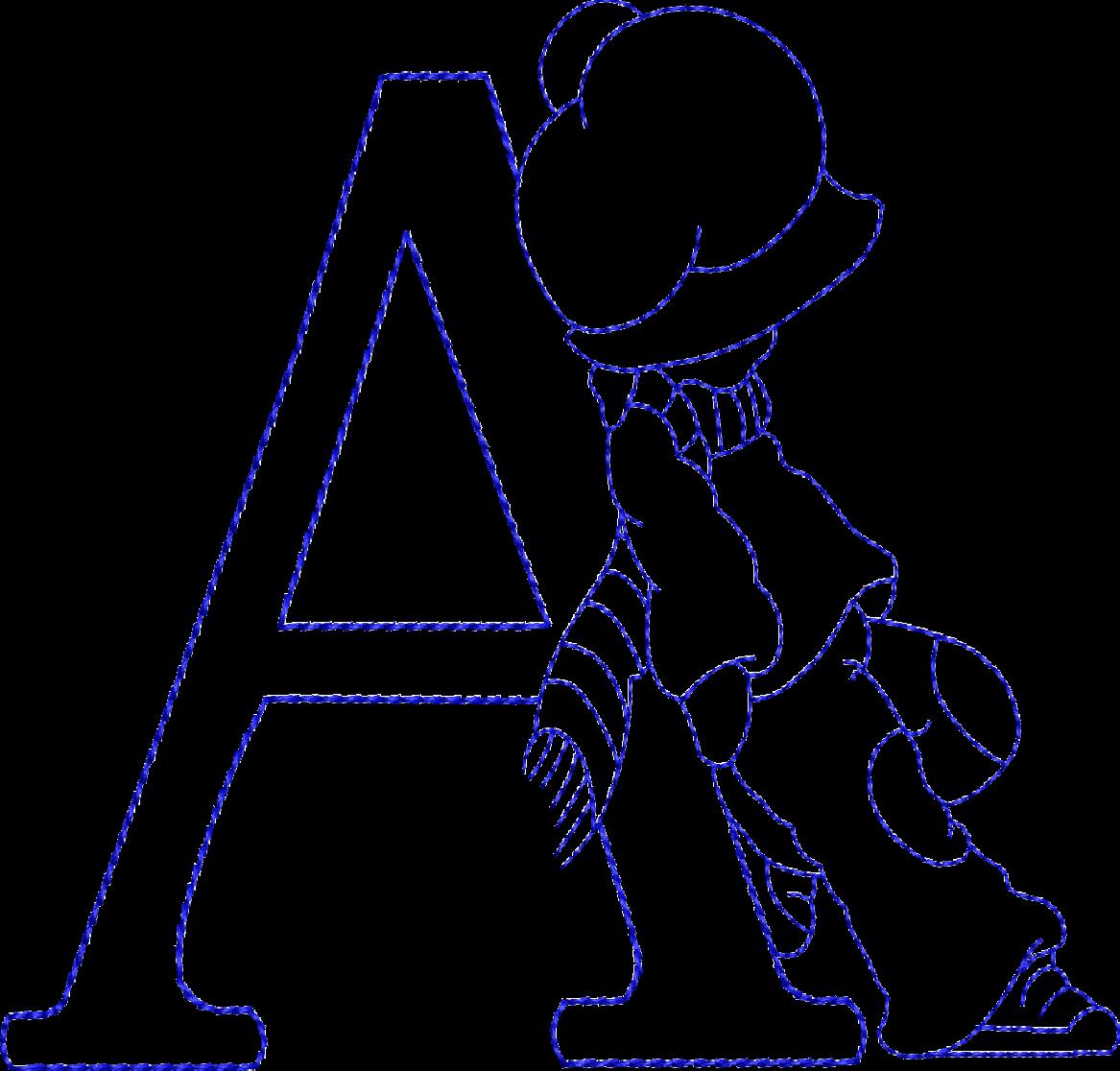 Diseños de bordado de la Máquina - Sunbonnet Alphabet | Diseños de ...