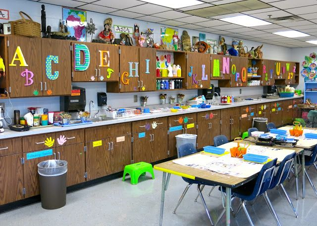 Cassie Stephens How To Decorate Your Art Room Alphabet Cabinets Art Room Room Tour Cassie Stephens