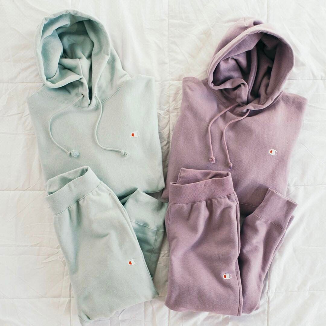 """Urban Outfitters on Instagram: """"Yes please! Shop @Champion + UO Reverse Weave Hoodie Sweatshirts and Jogger Pants in new perfect pastels! #UOonYou"""""""