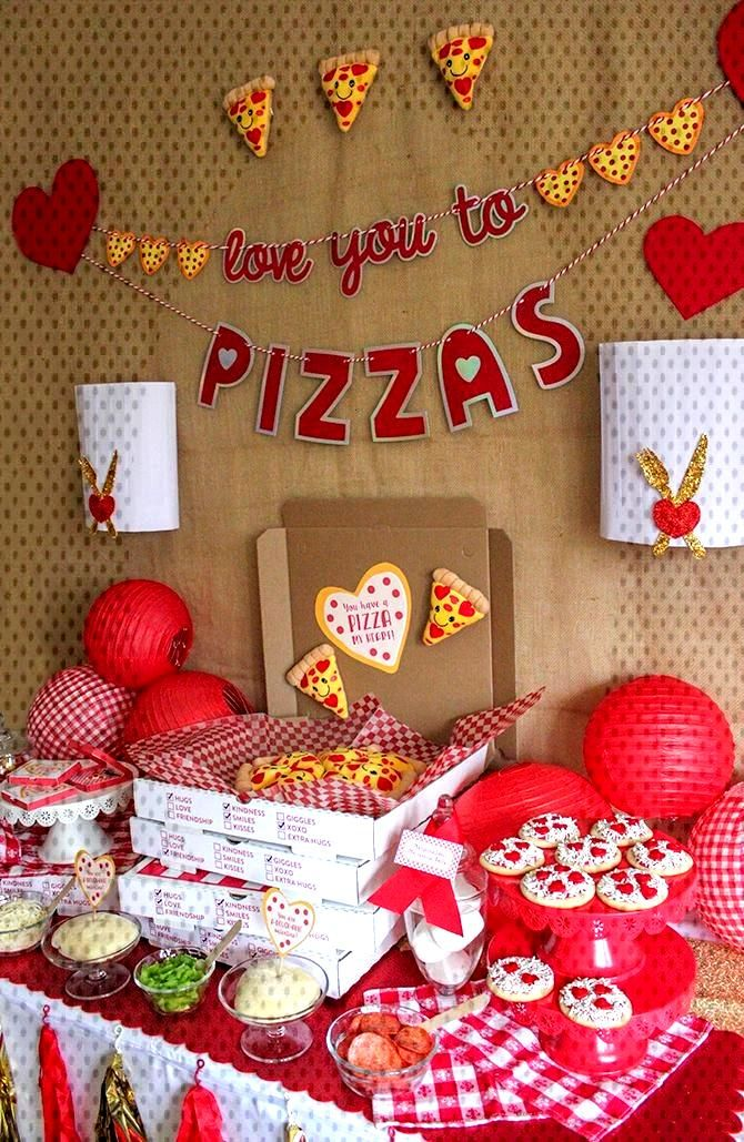 Valentine's Day pizza party, valentines day, you have a pizza my heart, love you to pizzas, partner