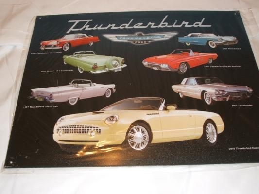 Ford Thunderbird T Bird Classic Cars On A Tin Metal Sign Ford Thunderbird Classic Cars Metal Tins