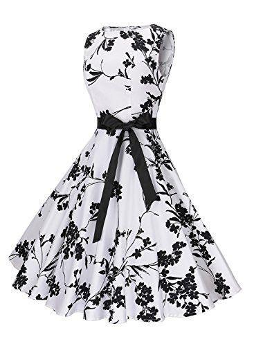 59e48c85053a Women's Classy Swing Dress Audrey Hepburn 1950s Vintage Rockabilly Dress