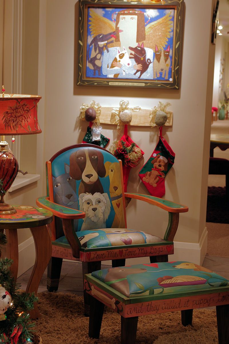 """""""love Love Dog"""". Great Furniture And Art Dog"""