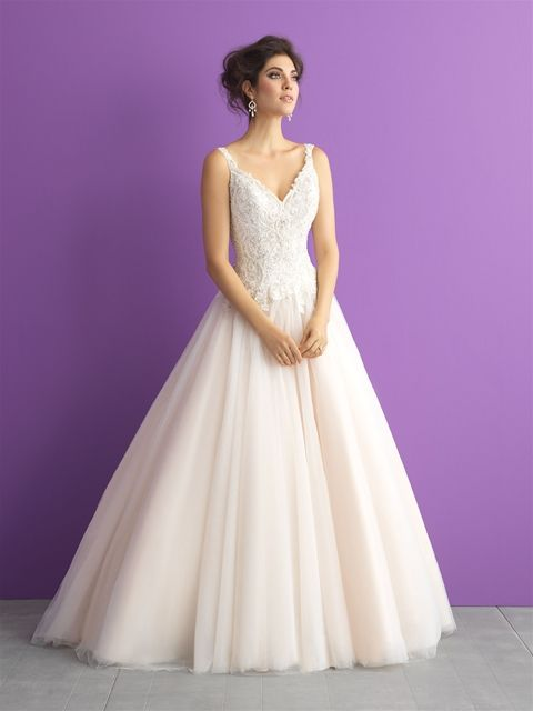 Allure Bridals style# 3015. Color Champagne/ivory/silver and ...