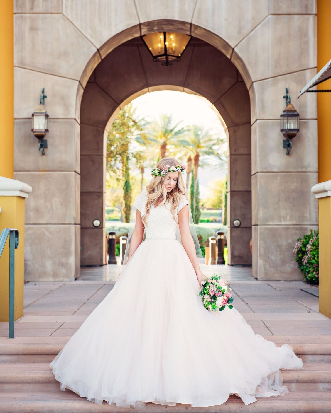 Did you know we have a modest bridal collection as seen on this
