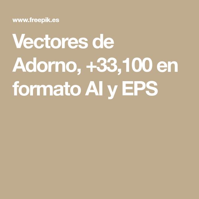 Vectores de Adorno, +33,100 en formato AI y EPS