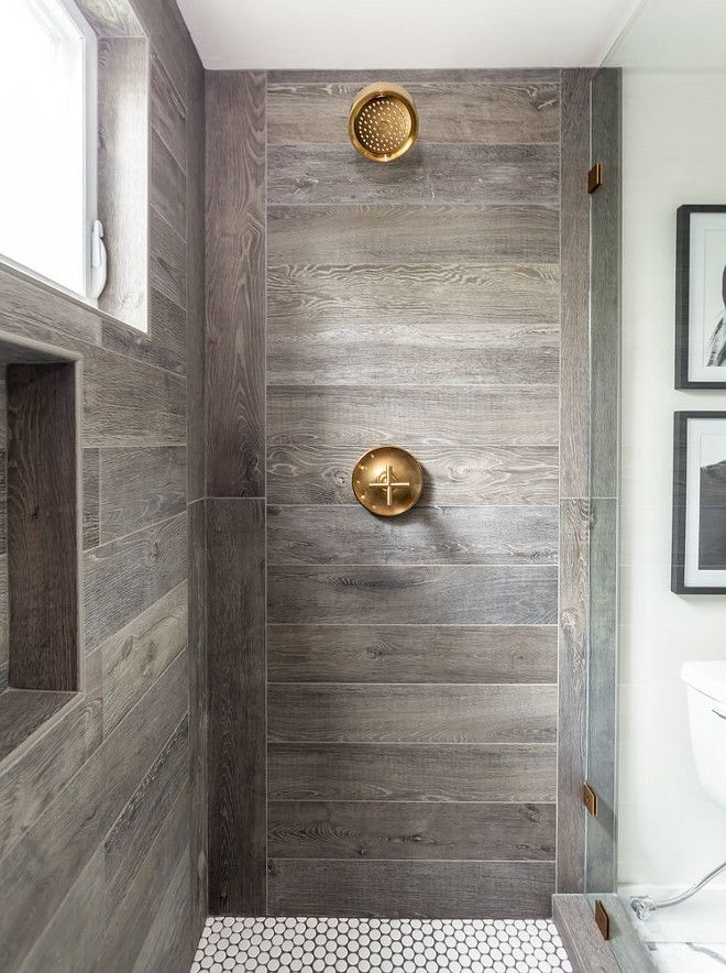 Bathroom Remodel With Stikwood: Farmhouse Shower. Farmhouse Bathroom Shower. The Shower