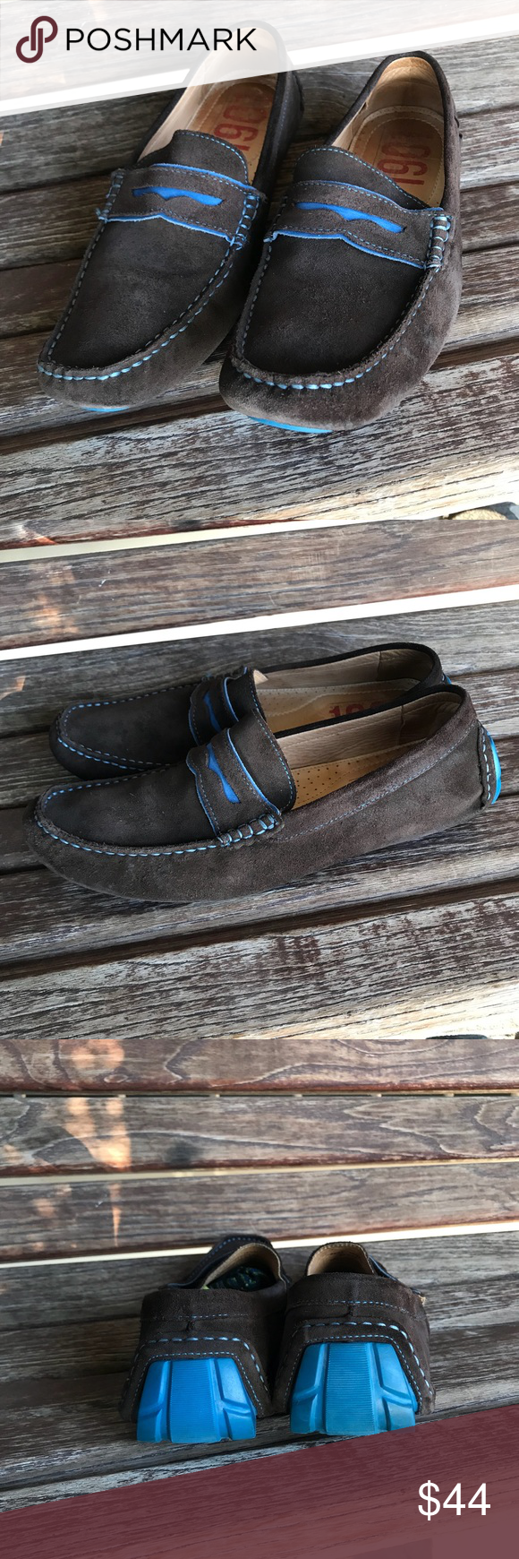 5c75dabfedf 1901 Penny Loafers Men s size 10.5  M71513  Gently used in great  condition!  -Brown Suede with blue trim -Men s size 10.5 -Style  M71513 See  pictures for ...