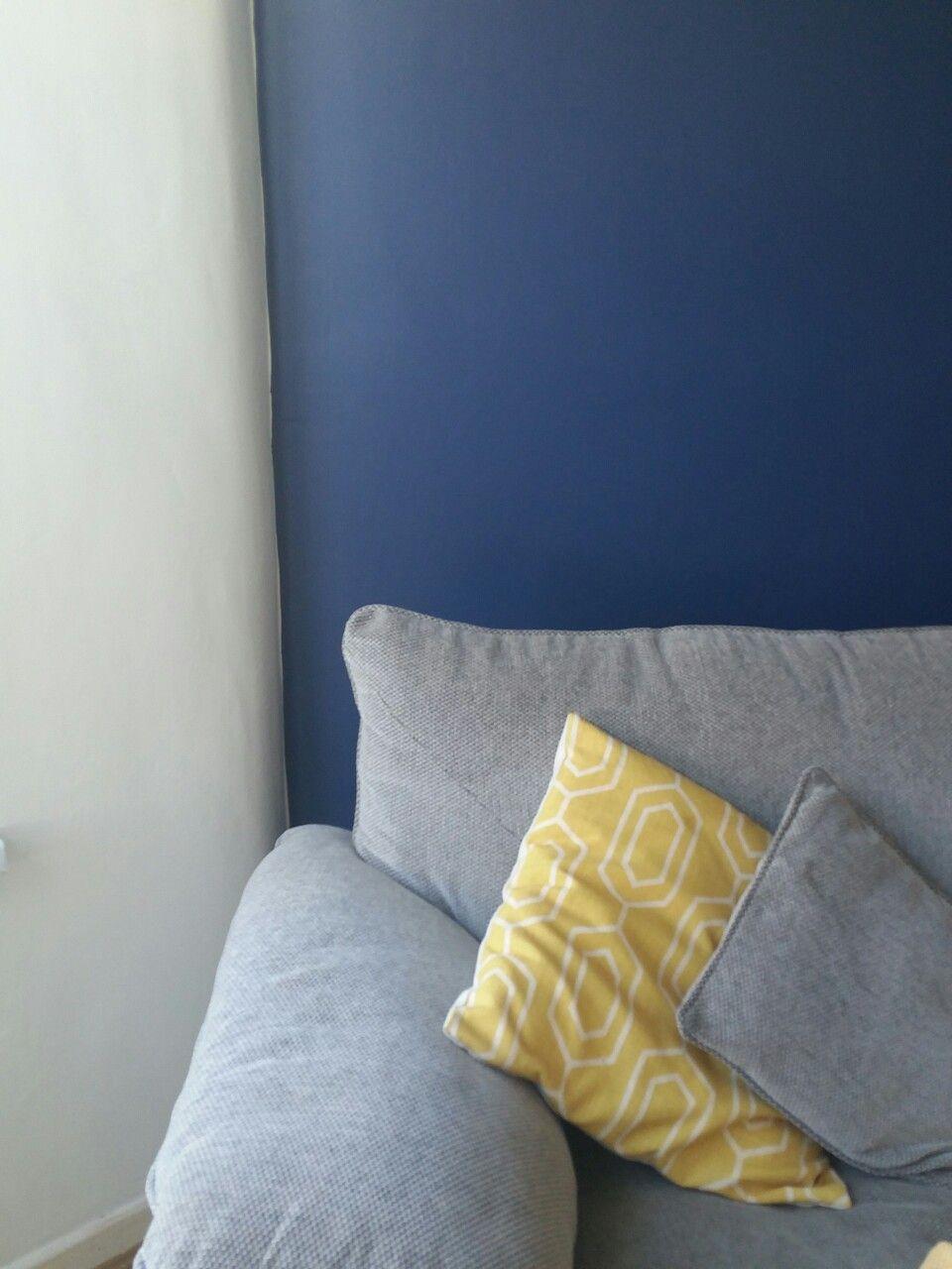 Blue Grey Yellow Lounge Colour Scheme Sapphire Salute Dulux P
