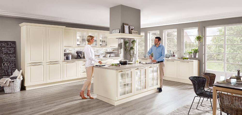 Sylt 849 Lack Magnolia Matt Moderner Landhaus Stil Nobilia Kuchen In 2020 With Images Kuchyne