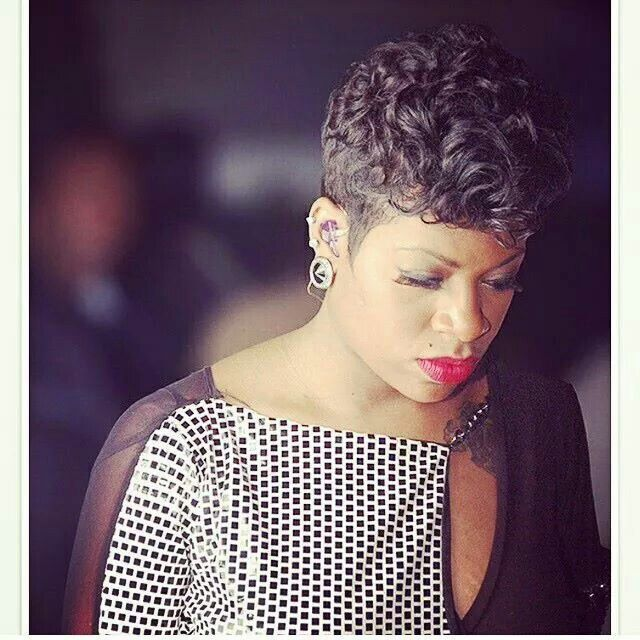 Fantasia Hairstyles fantasia barrino short black hairstyle with side swept bangs for black women Love This Fantasia Sophisticated Pixie