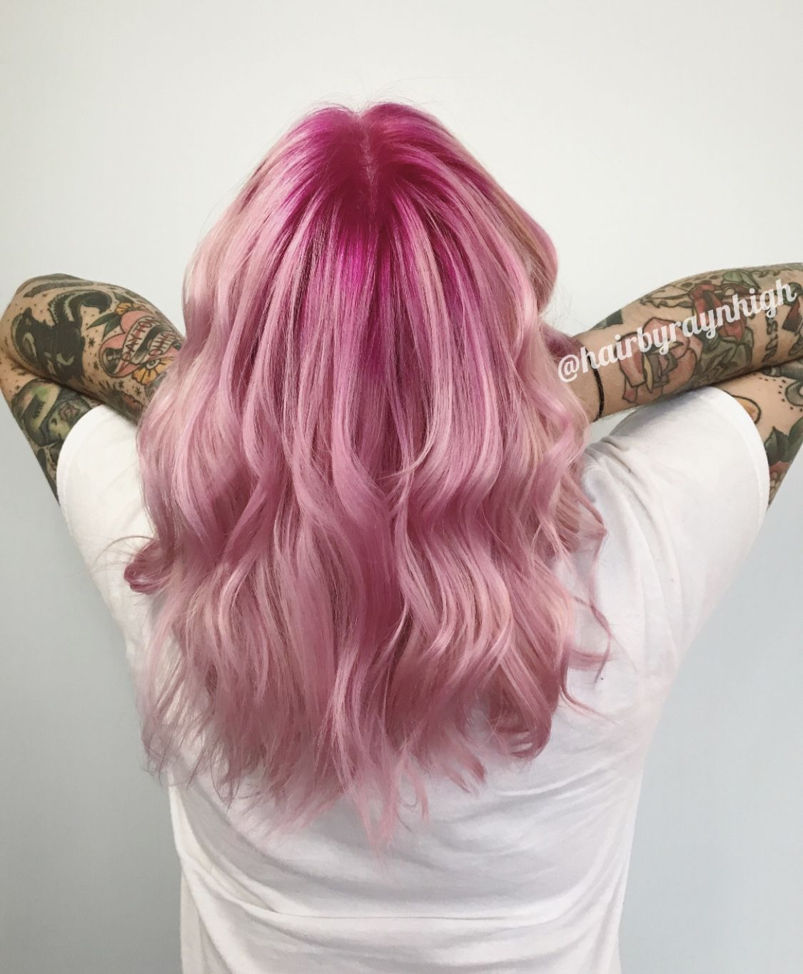 Hairbyraynhigh Pinkhair Pink Haircolor Hair Curls Vividhair