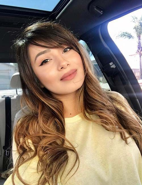 Google Image Result For Https Missminimalista Com Wp Content Uploads 2019 06 Sideswept Side Bangs Hairstyles Side Swept Bangs Long Hair Long Face Hairstyles