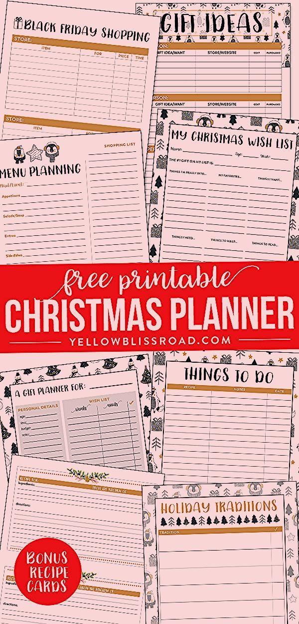 Photo of Free Printable Christmas Planner
