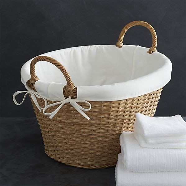 Laundry Basket Liner Crate And Barrel Ideias De Organizacao De