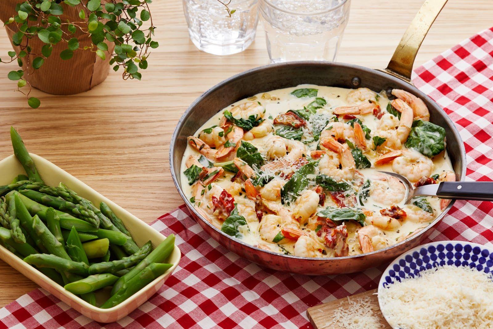 Creamy Low Carb Tuscan Shrimp Recipe Shrimp Asparagus