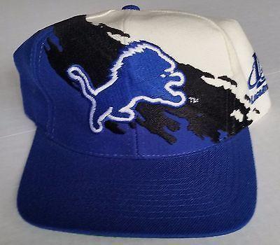 fb71bf7918335 Detroit Lions Vintage Snapback Logo Athletic Splash Hat NFL Pro Line Cap  Rare