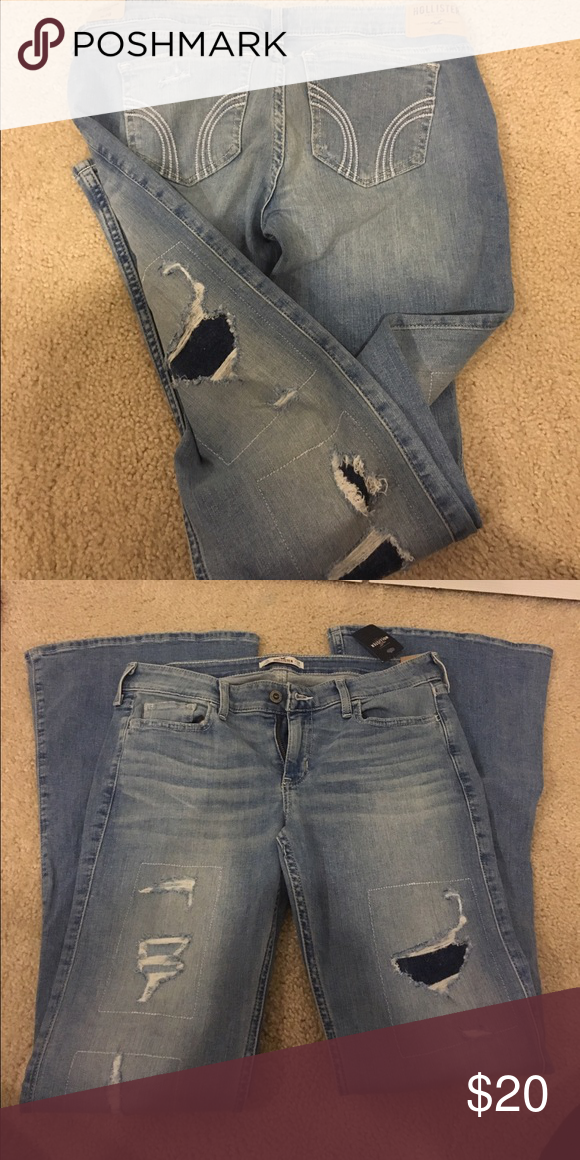 Hollister Destroyed Jeans. New with tags. Smoke free home Hollister Jeans Flare & Wide Leg