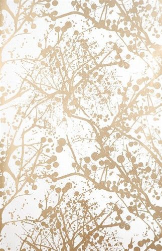 Wilderness Wallpaper In Gold And White By Ferm Living Papier Peint