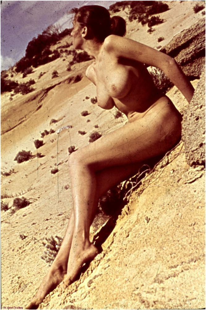nude woman in the desert