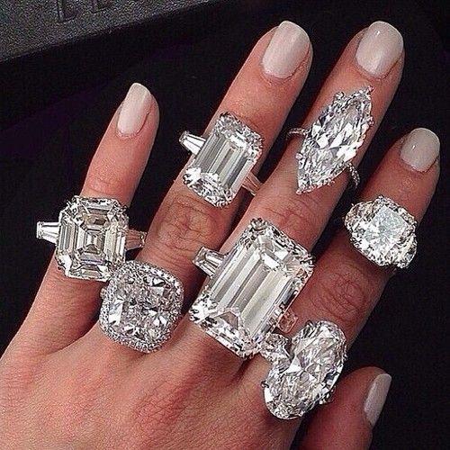 diamond ring on pinky finger