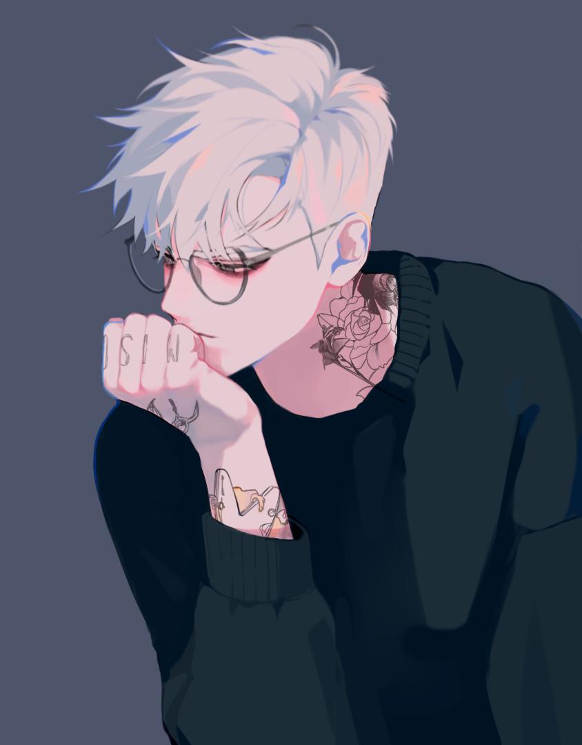 Anime guy with white hair art pinterest white hair