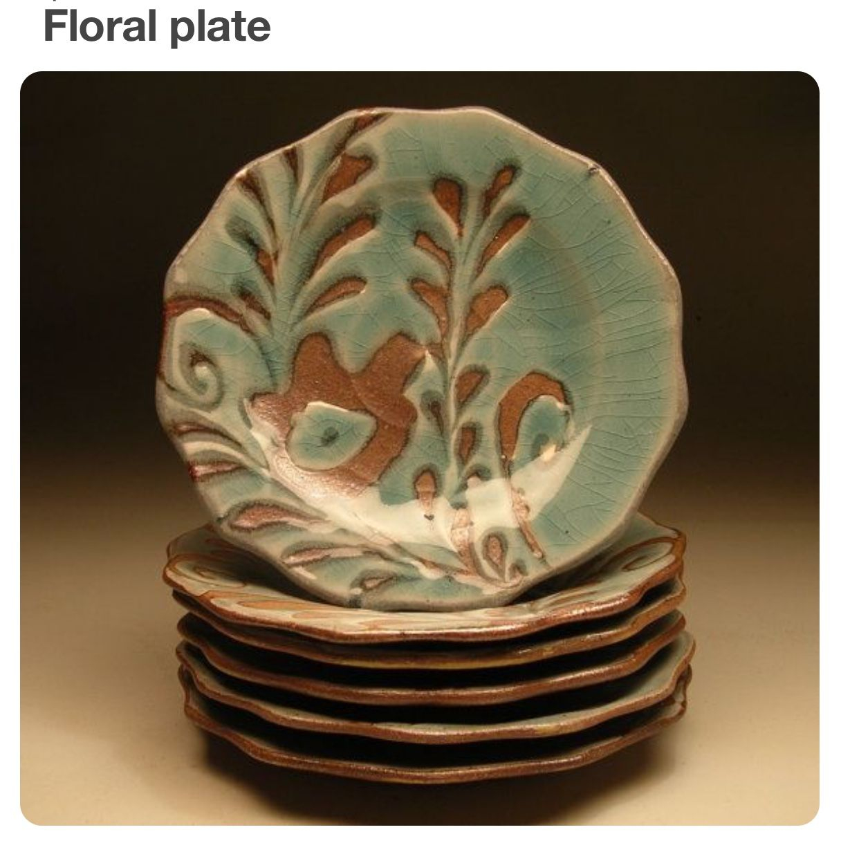 The lush hue and texture of the salt fired stoneware dramatically contrast yet compliment the gloss of a rich celedon blue. This is a smaller dinner plate ... & Pin by Kathy Mik on Ceramics/pottery | Pinterest | Pottery Pottery ...