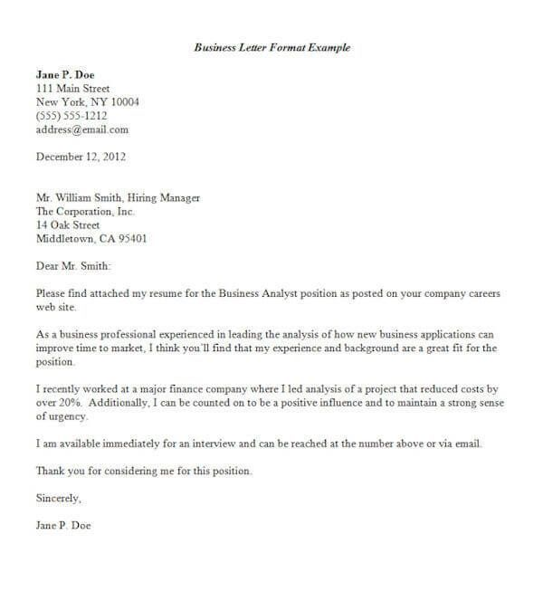 Formal Business Letter Format Letterg Resume Samples  And