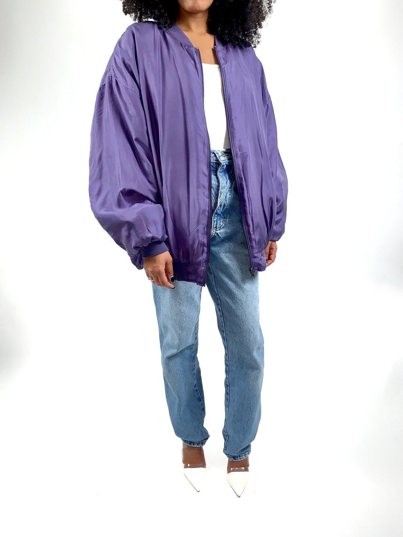 Vintage 90s Purple Silk Bomber Jacket Silk Bomber Jacket Silk Bomber Purple Bomber Jacket [ 1440 x 1080 Pixel ]