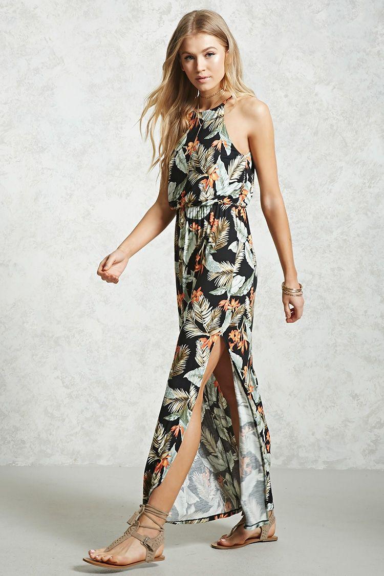 a976230a3db Style Deals - A jersey knit maxi dress featuring an allover tropical print
