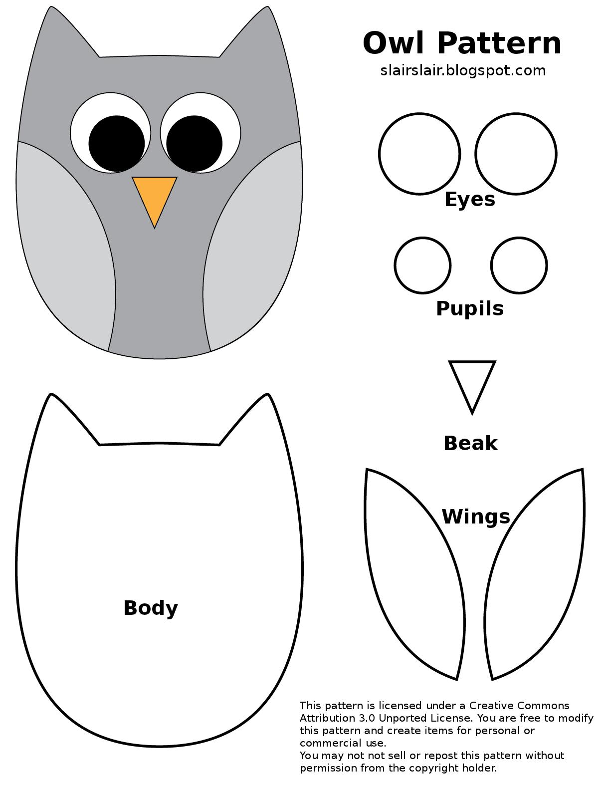Burung Hantu Kain Flanel Kreatif Dan Proyek Menjahit