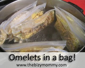 We Make These But Instead Of Using A Ladel For Eggs Add Two To Each Omelet Mix The While In Bag Easy Before Boiling Release Air From