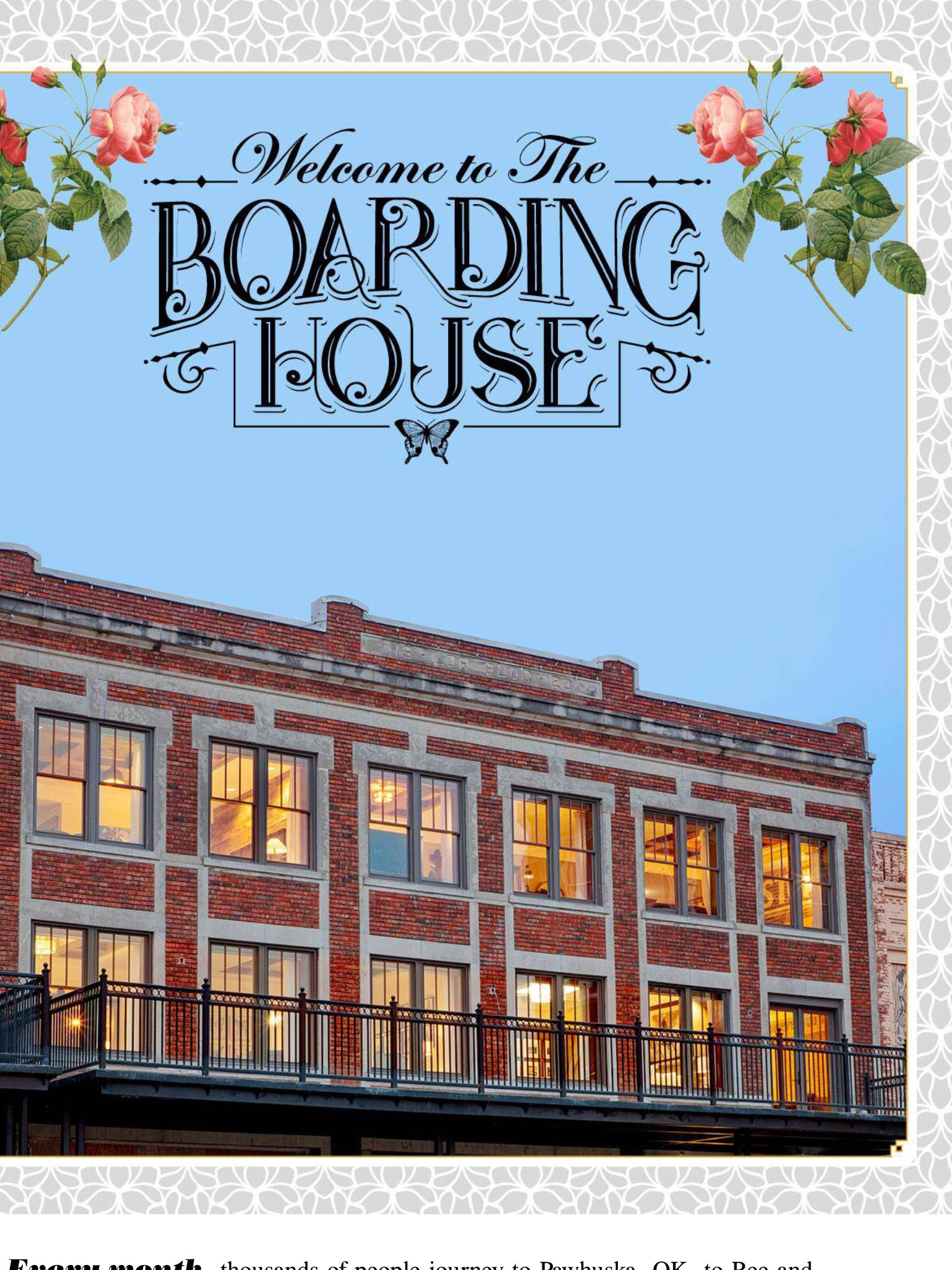 the boarding house pawhuska ok pioneer woman s hotel next to her