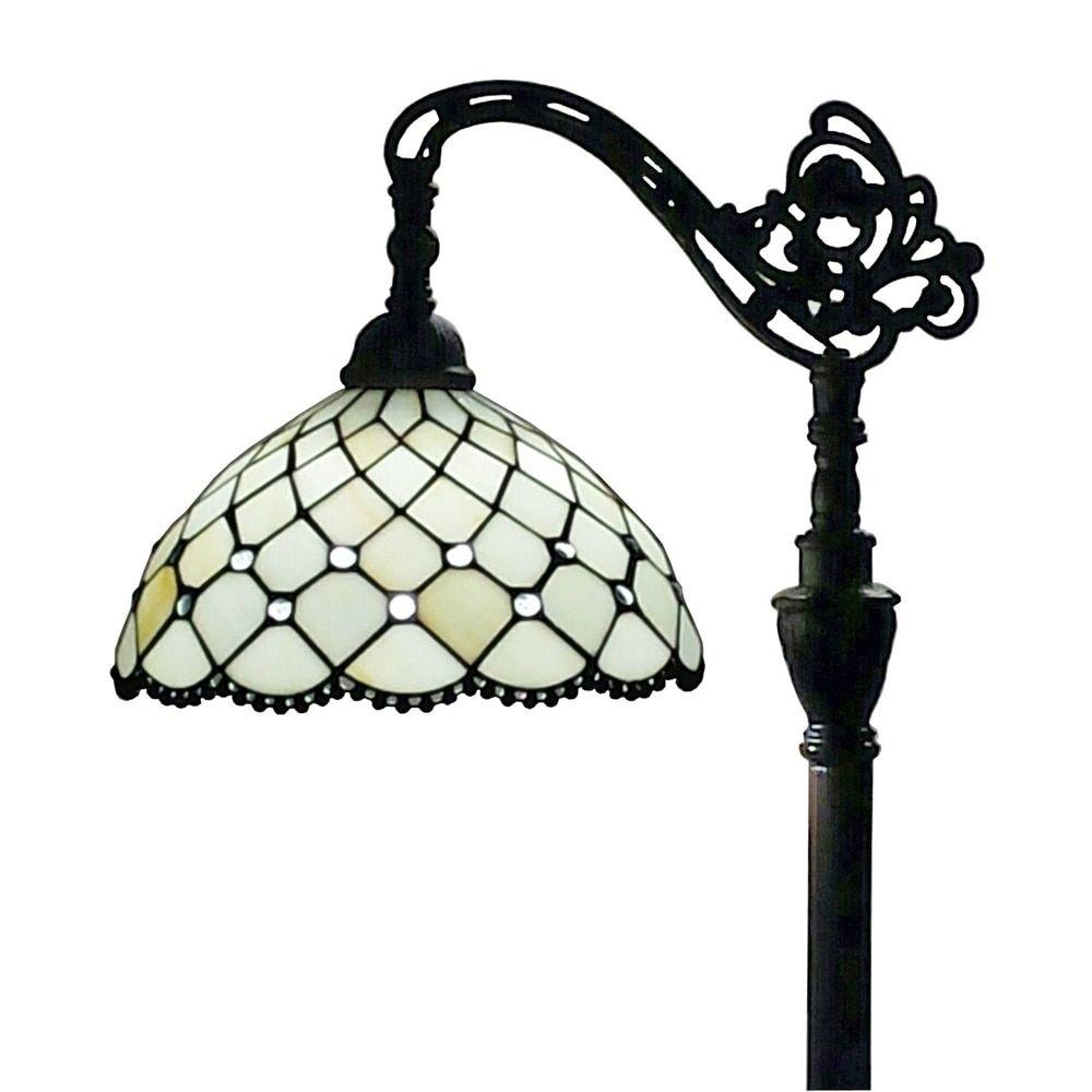 Amora Lighting Tiffany Style Jeweled Reading Floor Lamp 62 In ...