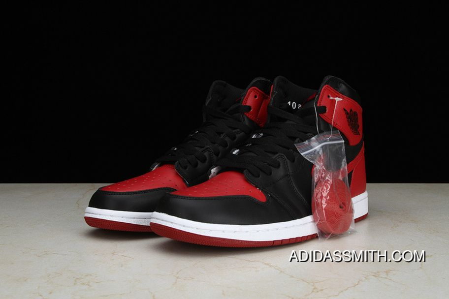 new product 6810e ee7f6 Pure OG Air Jordan 1 Retro High Bred AJ 1 Forbidden To Wear Black Red  Colorways Women Shoes And Men Shoes 555088-001 New Year Deals