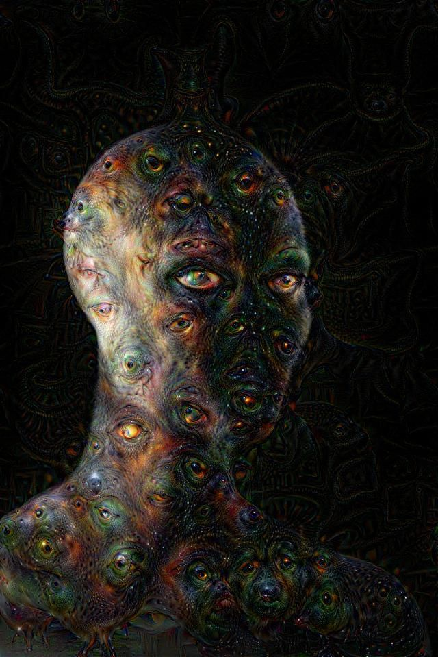 Deep Dream web interface Psychadelic Art, Psychedelic Drawings, Art Therapy Projects, Macabre Art, Creepy Art, Dream Art, Visionary Art, Horror Art, Surreal Art