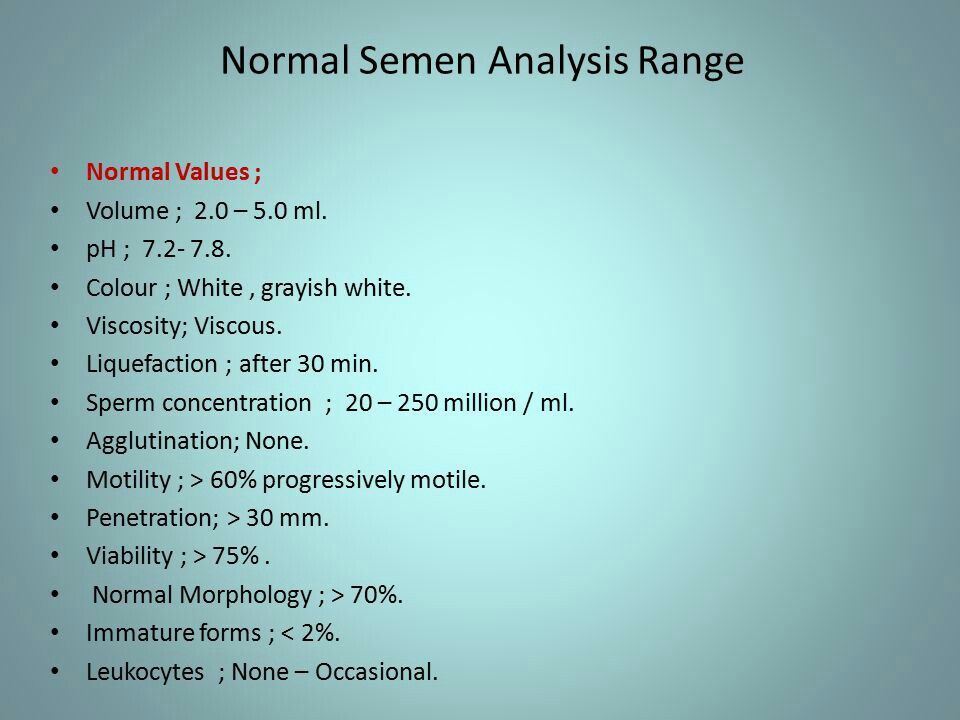 Normal semen analysis Medical laboratory Pinterest Medical - histology assistant sample resume