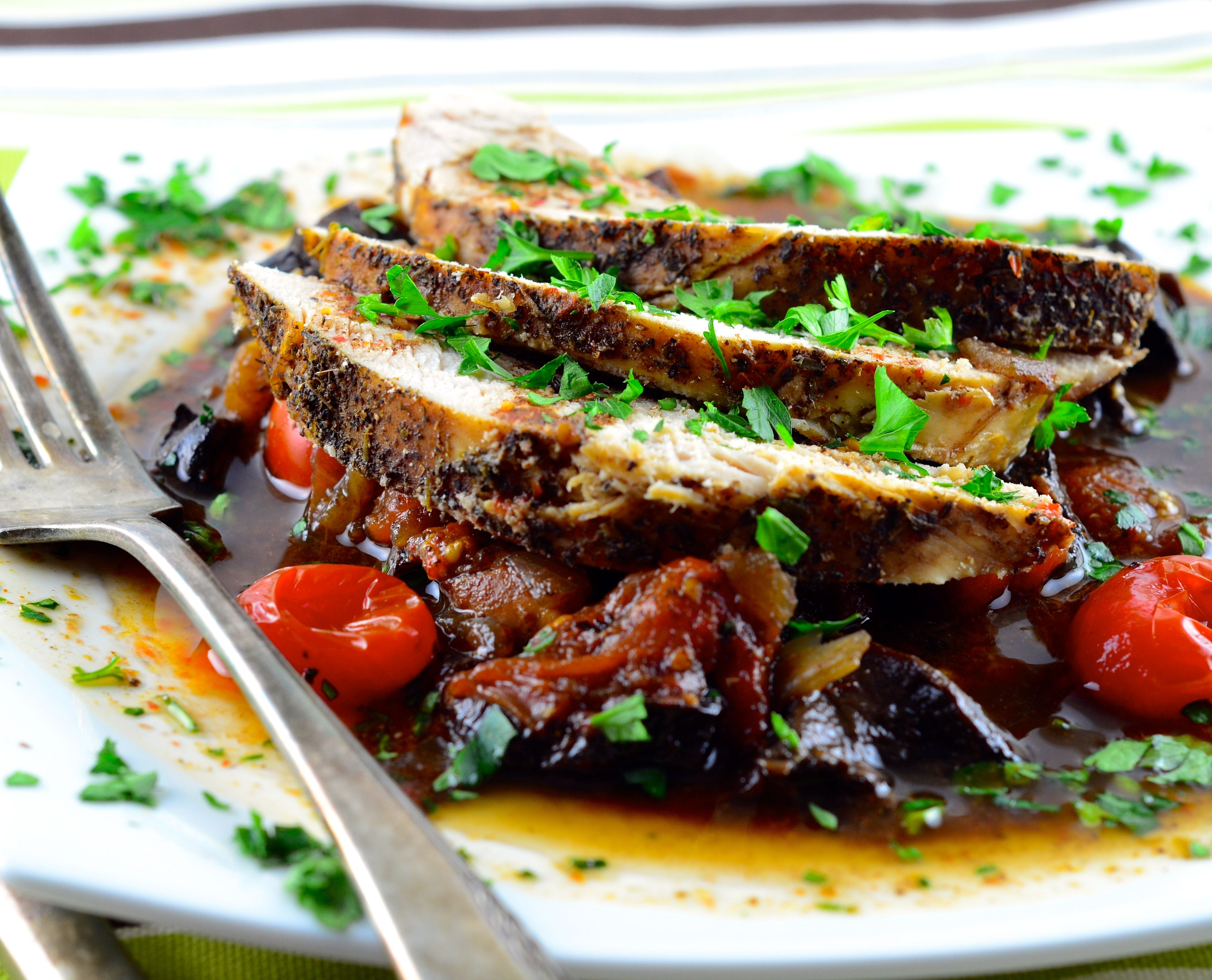 Slow-Cooker Balsamic Turkey