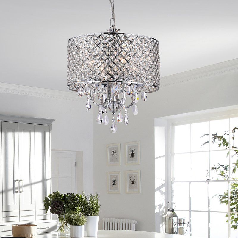 Edvivi marya 4 light crystal chandelier reviews wayfair