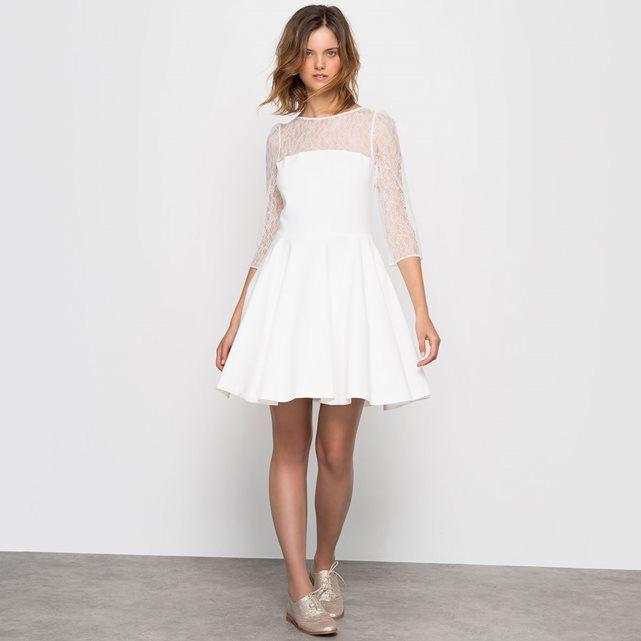 Petite robe blanche mariage civil