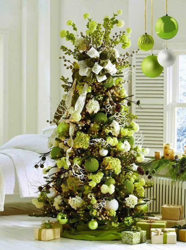 tannenbaum schmcken in grn - Christbaum Schmucken Beispiele