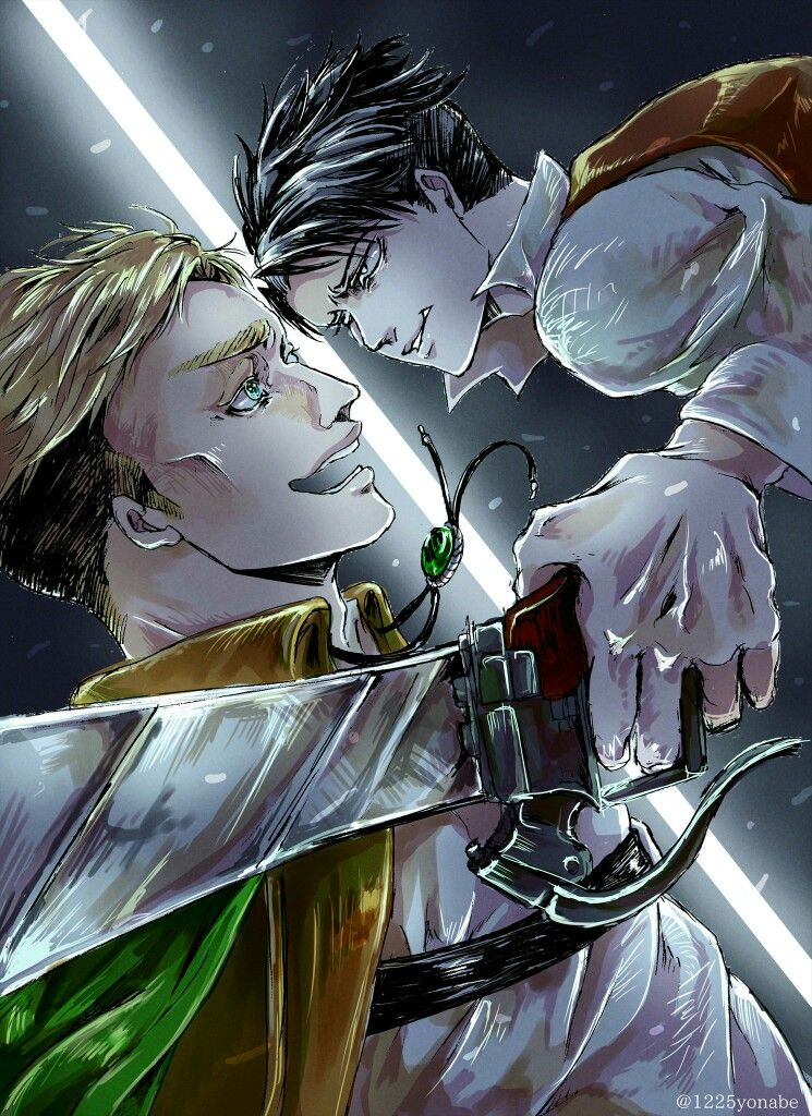 Levi and Erwin // attack on titan // Snk(画像あり) 進撃の巨人