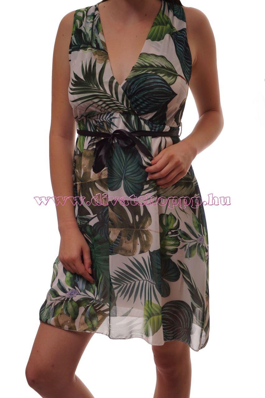 fce5c00c39 Trópusi mintás, átlapolt-szalagos mini ruha ekkor: 2019   Termékeink    Dresses, Wrap Dress és Wraps