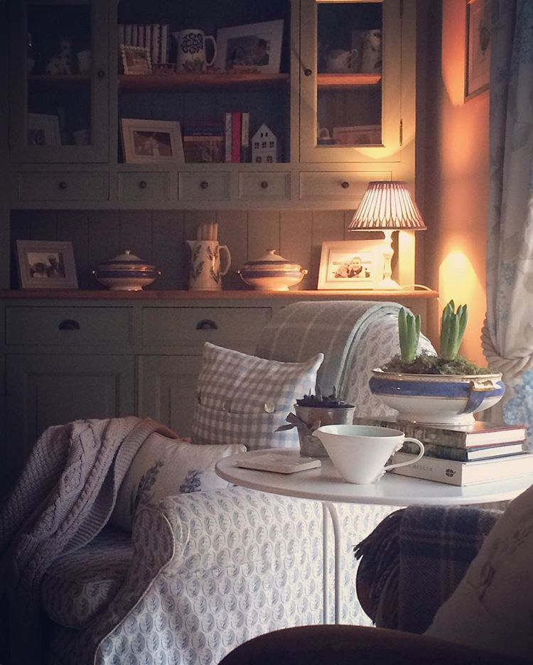 Slow January mornings.  #interiors #cottagestyle #theartofslowliving #thequietwinter #thatauthenticfeeling #contentmentfound #countrystyle #livinglifebeautifully #instahome #interiordesign #nestandflourish #gatherandcurate #aseasonalshift #cherishandrelish_january #calm_collected #countryliving #embracingaslowerlife #themidwintermovement #winterstories #stylingtheseasons #livefolk #countryinteriors