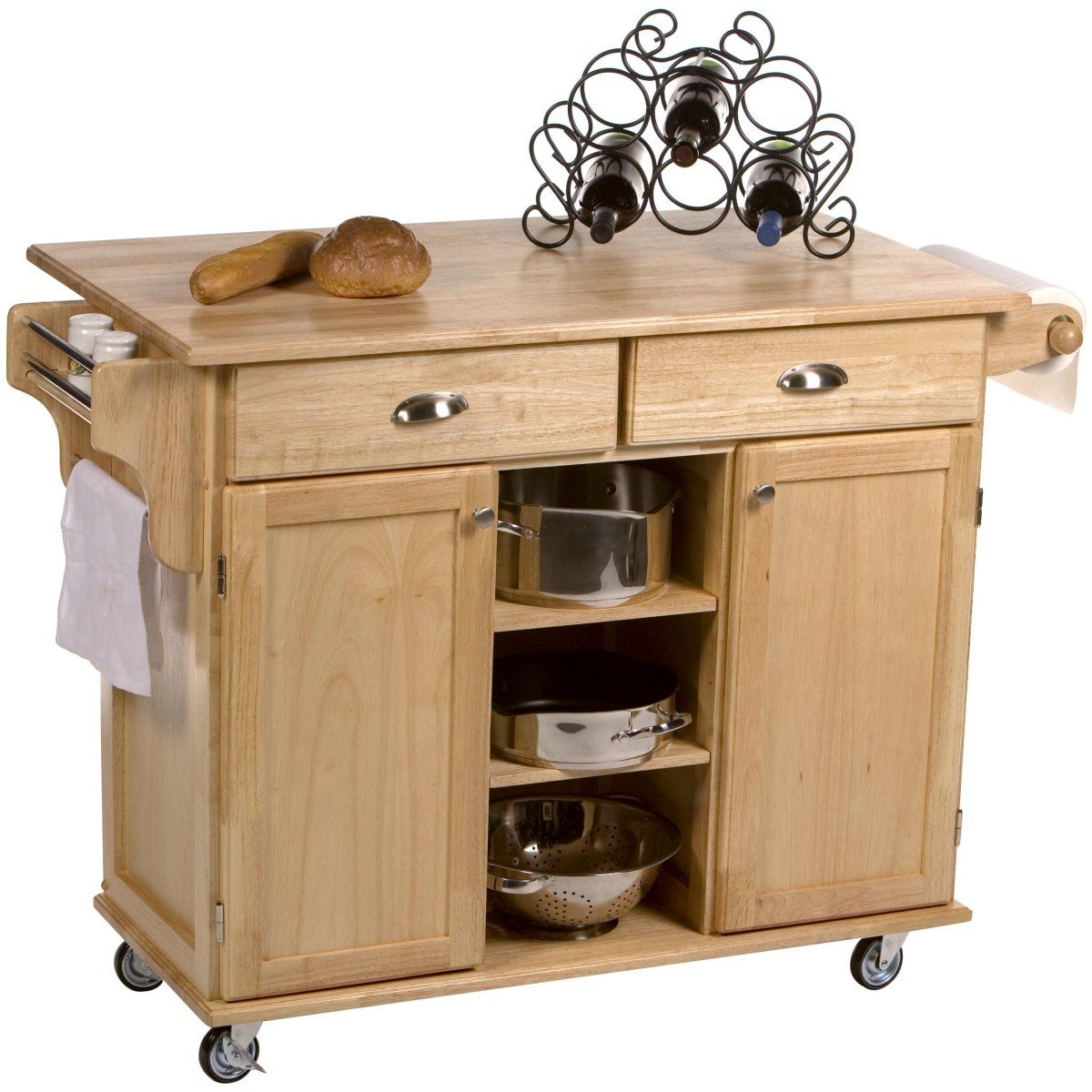 Napa Kitchen Cart - Kitchen Islands and Carts at eKitchen Islands ...