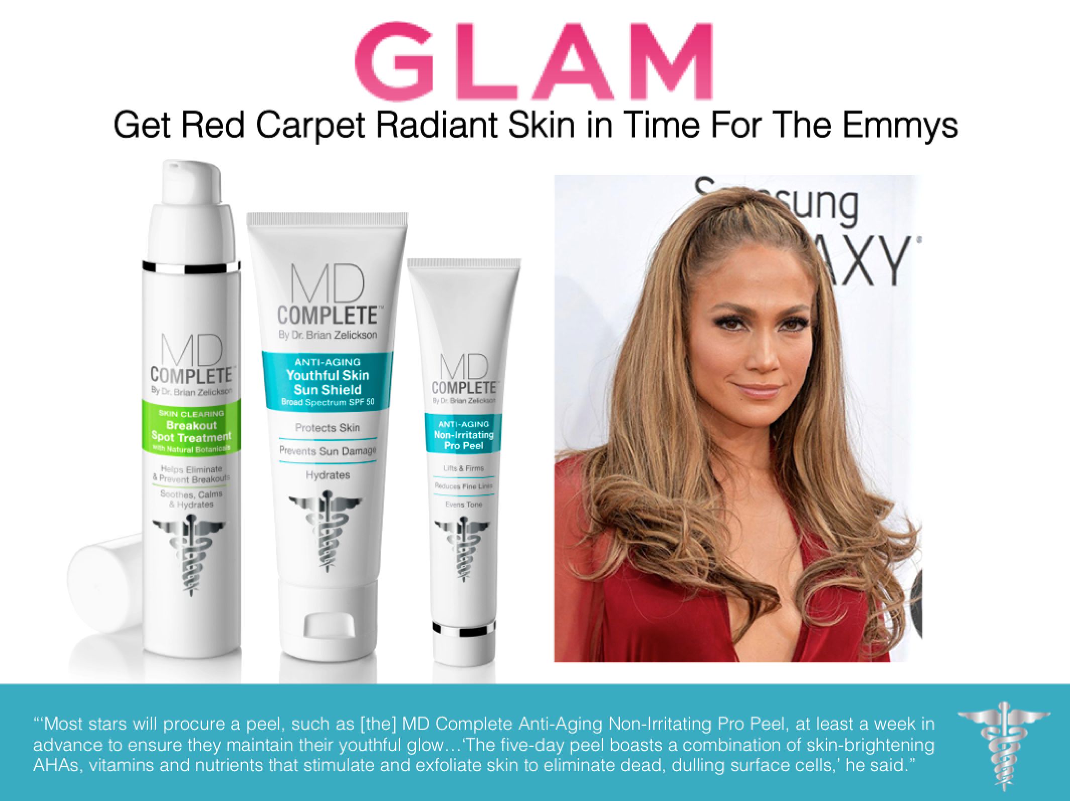 Did You Catch Md Complete In Glam S Red Carpet Radiant Article The Emmys Aging Skin Radiant Skin