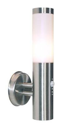 Outdoorwandleuchte Nova 2 Edelstahl Mit Bewegungsmelder Wirkungsbereich 120 8m Ip44 230v E27 Max 40w Exkl Leuchtmittel D Deko Light Lampen Rosetten