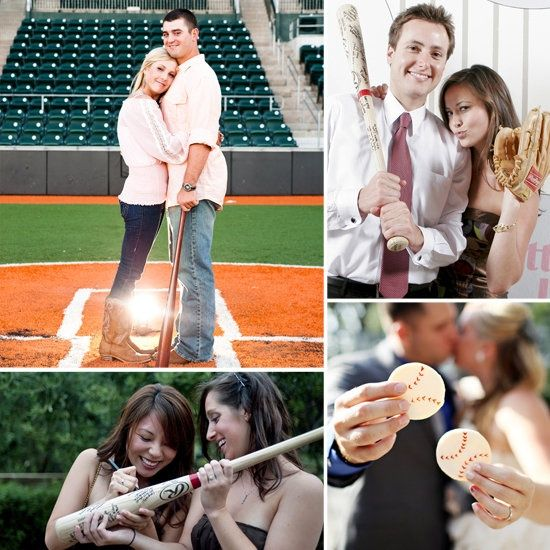 Would love to do a baseball wedding theme... Maybe for the Save the Dates?