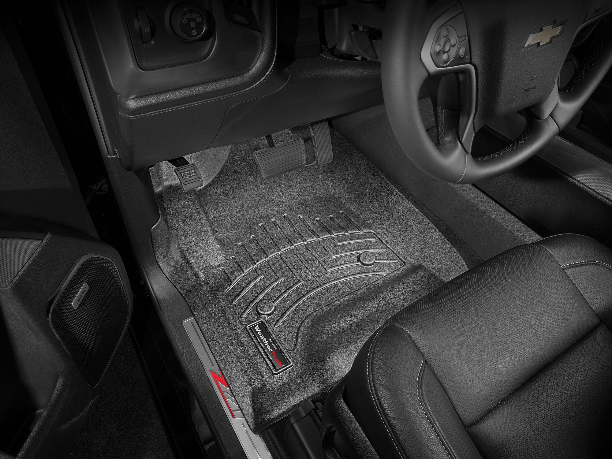 weathertech floor mats 2015 chevy silverado crew cab